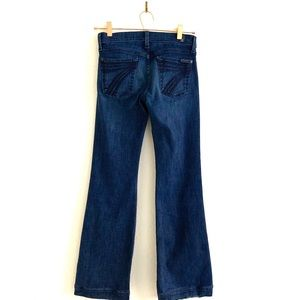 7 Seven For All Mankind Dojo Flare Jeans Dark Blue